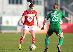Carla Humphrey of Bristol City competes with Rachael Mclauchlan of Yeovil Town Ladies- Mandatory by-line: Nizaam Jones/JMP - 27/01/2019 - FOOTBALL - Stoke Gifford Stadium - Bristol, England - Bristol City Women v Yeovil Town Ladies- FA Women's Super League 1