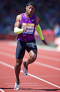 Michael Rodgers USA competing in the 100m heat during the IAAF  Diamond League Sainsbury's Birmingham Grand Prix at Alexander Stadium, Birmingham<br /> Picture by Alan Stanford/Focus Images Ltd +44 7915 056117<br /> 07/06/2015