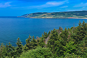 Cabot Trail. Cape Breton Island. Appalachian Mountain chain.  <br />