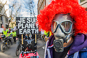 The protest was led by a group of cyclists who stopped outside Charing Cross for a die-in. The People's Climate March saw thousands of people from all angles of climate protest (from Greenpeace and Friends of the Earth to much smaller anti fracking groups) march from Holborn to Westminster in London. The march was colourful and generally peaceful.