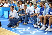 ATENE, 28 AGOSTO 2004<br /> OLIMPIADI ATENE 2004<br /> BASKET FINALE<br /> ITALIA - ARGENTINA<br /> NELLA FOTO: CARLO RECALCATI<br /> FOTO CIAMILLO