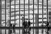 Architectural composition of Concourse A Expansion at Charlotte Douglas International Airport