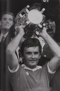 Cork Captain Charlie McCarthy receives the McCarthy Cup.