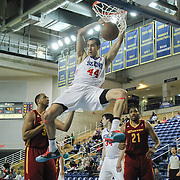 Delaware 87ers Center Ben Strong (44) dunks the ball in the first half of a NBA D-league regular season basketball game between the Delaware 87ers (76ers) and The Canton Charge (Cleveland Cavaliers) Friday, Jan 24, 2014 at The Bob Carpenter Sports Convocation Center, Newark, DEL.