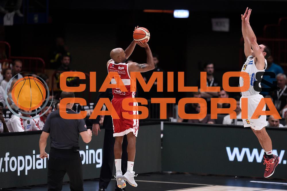 Hickman Richard<br /> EA7 Emporio Armani Olimpia Milano - Dolomiti Energia Aquila Basket Trento<br /> Lega Basket Serie A, Semifinali Playoff 2016/2017<br /> Milano, 25/05/2017<br /> Foto Ciamillo-Castoria