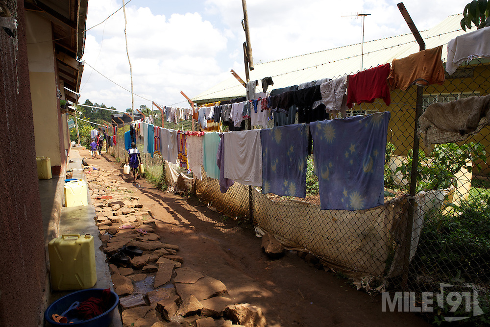Washing hanging out to dry.