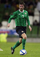 Football - Carling Nations Cup - Scotland v Northern Ireland<br /> Pat McCourt of Northern Ireland in action during the Scotland v Northern Ireland Carling Nations Cup at The Aviva Stadium