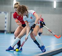 ROTTERDAM -  dames Hurley-Oranje Rood, Hurley plaatst zich voor halve finales NK  ,hoofdklasse competitie  zaalhockey.   COPYRIGHT  KOEN SUYK