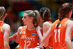 10–01-2020 NED: Olympic qualification tournament women Netherlands - Poland, Apeldoorn<br /> The Dutch volleyball players lost the third group match of the OKT in Apeldoorn 3-1 against Poland / Britt Bongaerts #12 of Netherlands