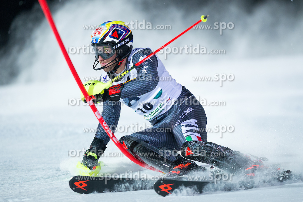 Stefano Gross (ITA) during the 7th Mens' Slalom of Audi FIS Ski World Cup 2016/17, on January 24, 2017 at the Planai in Schladming, Austria. Photo by Martin Metelko / Sportida