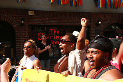 TDOA NYC (Trans Day of Action New York City) Targets Stonewall. Organized by the Trans Justice Project, part of the Audre Lorde Project. New York City, NY, 2013.