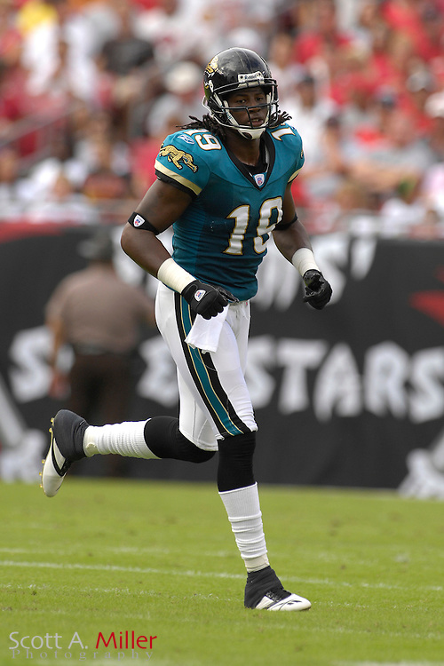 Jacksonville Jaguars receiver Ernest Wilford during the Jags' game against the Tampa Bay Buccaneers at Raymond James Stadium on  Oct. 28, 2007 in Tampa, Florida.      ..©2007 Scott A. Miller