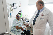 Heart transplant patient Garlan McCurger at the Cleveland Clinic on Sunday, Jan. 26, 2014 in Cleveland, OH.