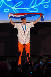 Theo Bos during honoring of the gold and silver medal in the Holland Heineken House for Anky van Grunsven and Theo Bos on August 25, 2004 in Olympic Stadion Spyridon Louis, Athens.