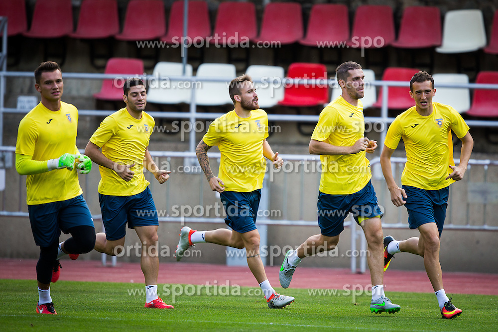 Zan Majer of NK Domzale, Luka Zinko of NK Domzale, Kenan Horic of NK Domzale during practice session before football match between NK Domzale and FC Lusitanos Andorra in second leg of UEFA Europa league qualifications on July 6, 2016 in Andorra la Vella, Andorra. Photo by Ziga Zupan / Sportida