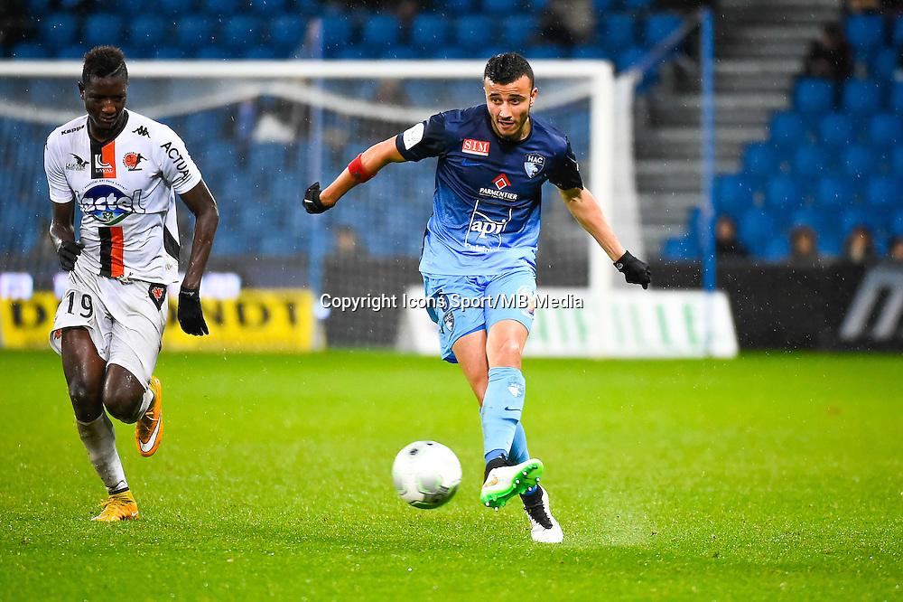 Romain SAISS  - 12.12.2014 - Le Havre / Laval - 17eme journee de Ligue 2 <br /> Photo : Fred Porcu / Icon Sport