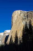 Morning light on El Capitan in winter, Yosemite National Park, California USA