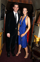 The HON.JAMES TOLLEMACHE and ARABELLA MUSGRAVE at a private dinner and presentation of Issa's Autumn-Winter 2005-2006 collection held at Annabel's, 44 Berkeley Square, London on 15th March 2005.<br />