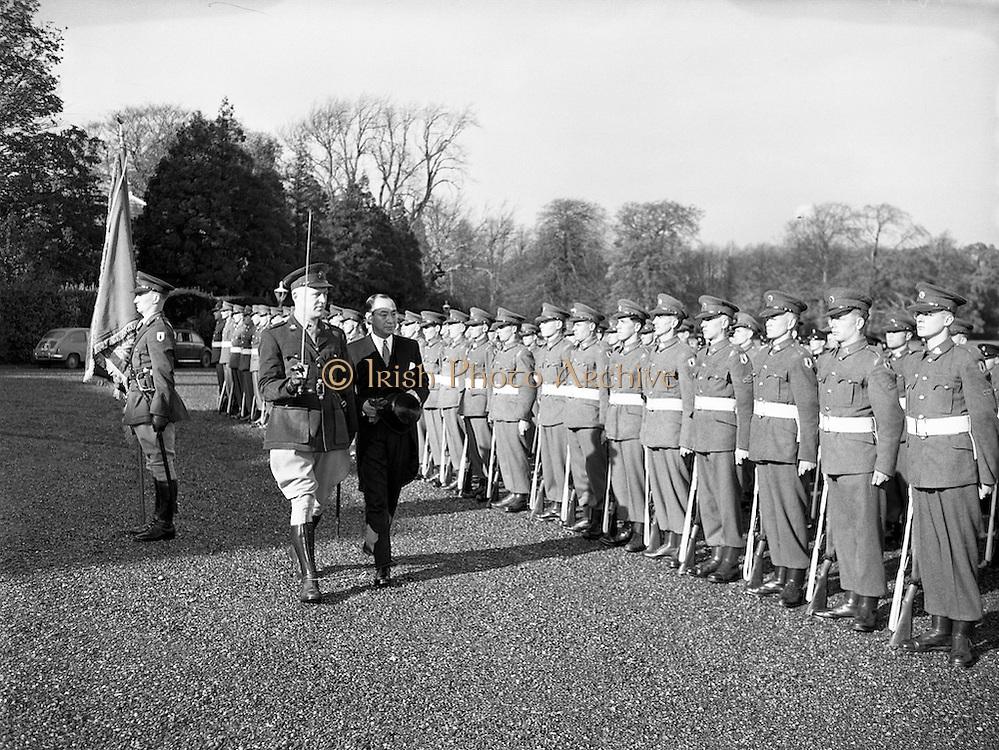 31/10/1957<br /> 10/31/1957<br /> 31 October 1957<br /> <br /> New Japanese Minister Anika Ohye presenting his Credentials at Aras an Uachtarain
