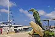 Ilana Gur's Vulture statue. Herzliya Yacht club, Israel