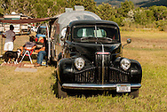 Old Time Fiddlers Picnic, Campers, restored 1948 Studebaker Pickup, 1949 Curtis Wright Model 5 Clipper Travel Trailer, Livingston, Montana