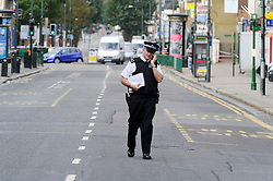 © Licensed to London News Pictures. 10/10/2011. London, UK. Police at the scene of a stabbing in Bexleyheath, South London today (10/10/2011)  in which a woman was killed and another woman was injured. Photo credit : Grant Falvey/LNP