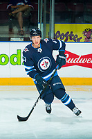 PENTICTON, CANADA - SEPTEMBER 8: Luke Green #51 of Winnipeg Jets warms up against the Vancouver Canucks on September 8, 2017 at the South Okanagan Event Centre in Penticton, British Columbia, Canada.  (Photo by Marissa Baecker/Shoot the Breeze)  *** Local Caption ***