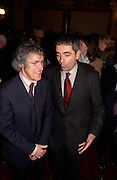 Griff Rhys Jones and Rowan Atkinson, Re-opening of the Hackney Empire, 28 January 2004. © Copyright Photograph by Dafydd Jones 66 Stockwell Park Rd. London SW9 0DA Tel 020 7733 0108 www.dafjones.com