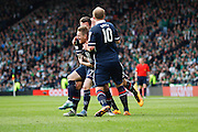 Ross County Midfielder Michael Gardyne Celebrates scoring opening goal during the Scottish League Cup Final match between Hibernian and Ross County at Hampden Park, Glasgow, United Kingdom on 13 March 2016. Photo by Craig McAllister.