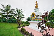Kalachakra Stupa (Buddhist) shrine, Paleaku Gardens Peace Sanctuary, Kona Coast, The Big Island, Hawaii USA