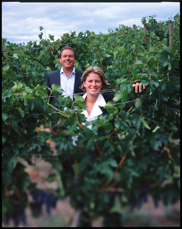 Cynthia & David Enns at their Naramata winery in British Columbia's wine making region, the Okanagan valley.
