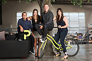 Group portrait of executives at the Pitch advertising agency in Culver City, Calif.
