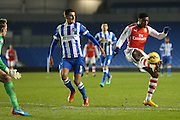 Arsenal's Chuba Akpom during the Barclays U21 Premier League match between Brighton U21 and Arsenal U21 at the American Express Community Stadium, Brighton and Hove, England on 1 December 2014.