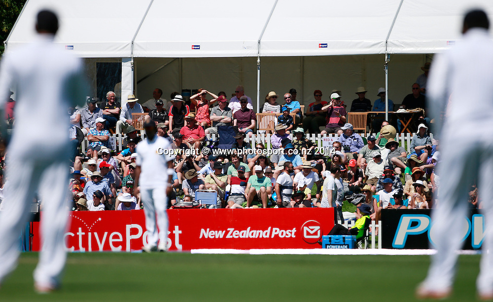 Crowd on Day 1 of the boxing Day Cricket Test Match  the Black Caps v Sri Lanka at Hagley Oval, Christchurch. 26 December 2014 Photo: Joseph Johnson / www.photosport.co.nz