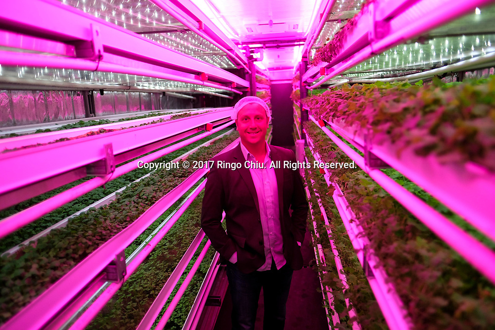 Brandon J. Martin. VP, Business Development at the Local Roots, a company designs, builds and operates indoor growing centers that are made from shipping containers.  (Photo by Ringo Chiu)<br /> <br /> Usage Notes: This content is intended for editorial use only. For other uses, additional clearances may be required.