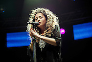 Ella Eyre performs on stage as part of the Clyde 1 Live concert at The SSE Hydro on December 6, 2014 in Glasgow, United Kingdom. (Photo by Ross Gilmore
