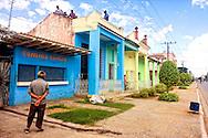 Roof repair in Moron, Ciego de Avila, Cuba.