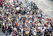 Pilgrims in Lourdes, France
