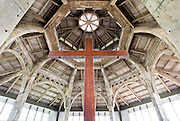 The concrete roof structure supporting the clerestory drum, The Cathedral of Christ the Living Saviour. Colombo.