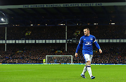 Wayne Rooney of Everton stands in front of the Howard Kendal Gwladys Street End at Goodison Park - Mandatory by-line: Robbie Stephenson/JMP - 01/01/2018 - FOOTBALL - Goodison Park - Liverpool, England - Everton v Manchester United - Premier League