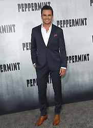 August 30, 2018 - Los Angeles, California, USA - 8/28/18.Juan Pablo Raba at the premiere of ''Peppermint'' held at the Regal Cinemas LA Live in Los Angeles, CA, USA. (Credit Image: © Starmax/Newscom via ZUMA Press)