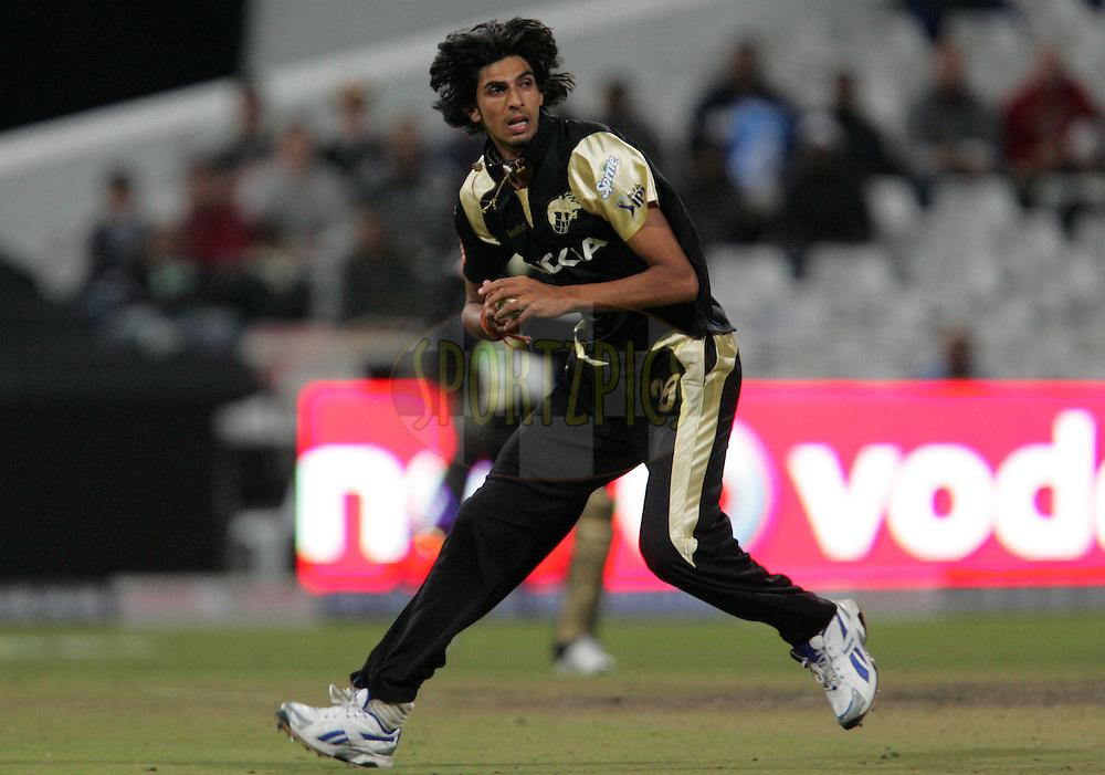 CAPE TOWN, SOUTH AFRICA - 23 April 2009. Ishant Sharma during the  IPL Season 2 match between the Kolkata Knight Riders and the Rajasthan Royals held at Sahara Park Newlands in Cape Town, South Africa..