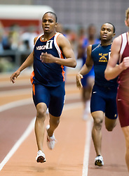 Edmund Brian Dixon (Virginia) in the men's 1000m run.  Day 2 of the Virginia Tech Invitational Track and Field meet was held at the Rector Field House on the campus of Virginia Tech in Blacksburg, VA on January 12, 2008.