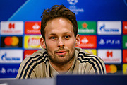 Ajax defender Daley Blind (17) during the Ajax press conference ahead of the Champions League semi-final 2nd leg, at Johan Cruijff Arena, Amsterdam, Netherlands on 7 May 2019.