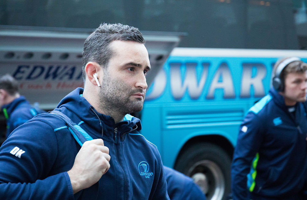 Leinster's Dave Kearney arrives at the stadium<br /> <br /> Photographer Simon King/Replay Images<br /> <br /> Guinness PRO14 Round 19 - Ospreys v Leinster - Saturday 24th March 2018 - Liberty Stadium - Swansea<br /> <br /> World Copyright © Replay Images . All rights reserved. info@replayimages.co.uk - http://replayimages.co.uk