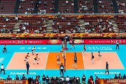 15-10-2018 JPN: World Championship Volleyball Women day 16, Nagoya<br /> Netherlands - USA 3-2 / View of the empty Nippon Gaishi Hall
