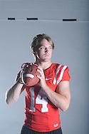 Mississippi quarterback Bo Wallace (14) poses during the team's media day, in Oxford, Miss. on Friday, August 1, 2014. Mississippi begins practice Saturday morning and opens the season against Boise State in Atlanta on August 28, 2014.