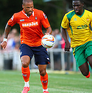 Ross Lafayette of Luton Town during the Pre Season Friendly match at Top Field, Hitchin<br /> Picture by David Horn/Focus Images Ltd +44 7545 970036<br /> 17/07/2014
