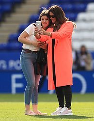 Rebekah Vardy during the Premier League match at the King Power Stadium, Leicester.