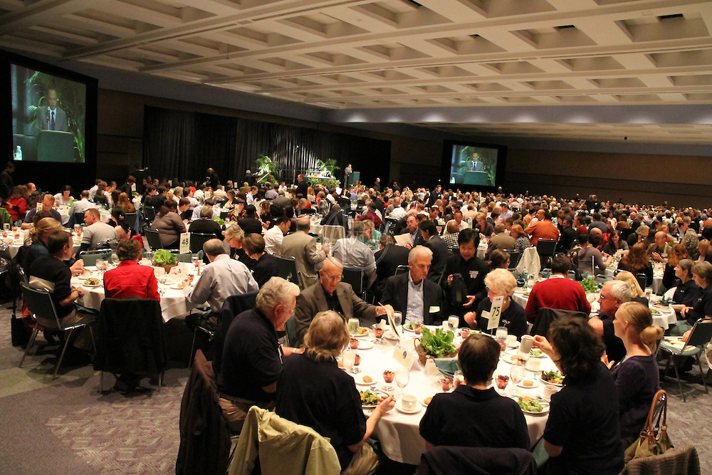 "Solid Ground 10th Annual ""Building Community to End Poverty"" Luncheon, May 2010 at the Washington State Convention and Trade Center. Keynote speaker: food justice activist, eco chef, author, and Kellogg Fondation Fellow, Bryant Terry."